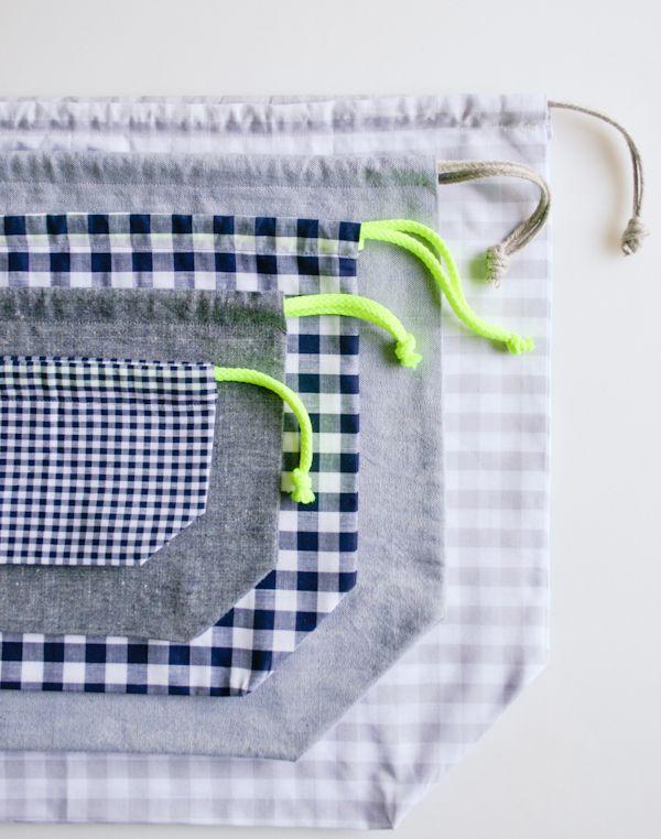Easy Drawstring Bag: Four NewSizes!: Crochet Sewing, Crafts Patterns, Sewing Crafts, Sewing Idea, Bags Patterns, Craft Patterns, Drawstring Bags, Purl Bees, Easy Drawstring
