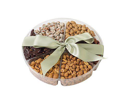 Chocolate Decor Freshly Roasted Nut Gift Basket, 6 Sectional Tray,