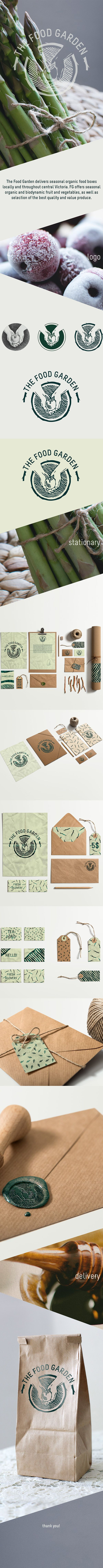 Seasonal and organic food products packaging branding for the Food Garden PD