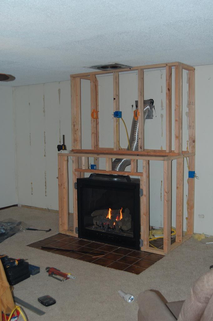 DIY Gas Fireplace Surround