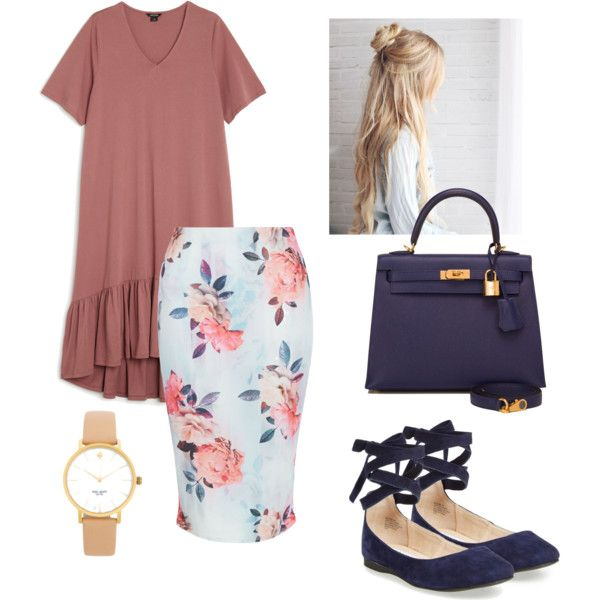 A fashion look from August 2016 by kaylabrown876 featuring Monki, New Look, Steve Madden, Hermès and Kate Spade