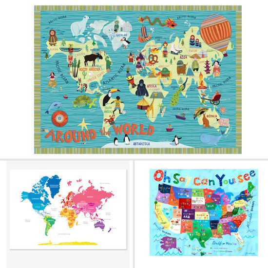37 best world traveler boys room images on pinterest maps world 5 cool world maps to show kids the world gumiabroncs Image collections