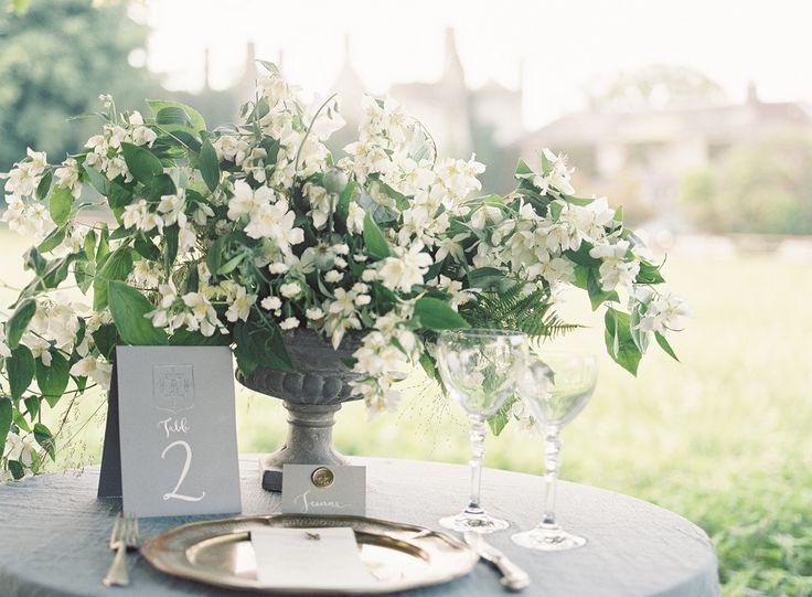 Romantic Grey & Gold Wedding Inspiration  Read more - http://www.stylemepretty.com/2014/01/31/romantic-grey-gold-wedding-inspiration/