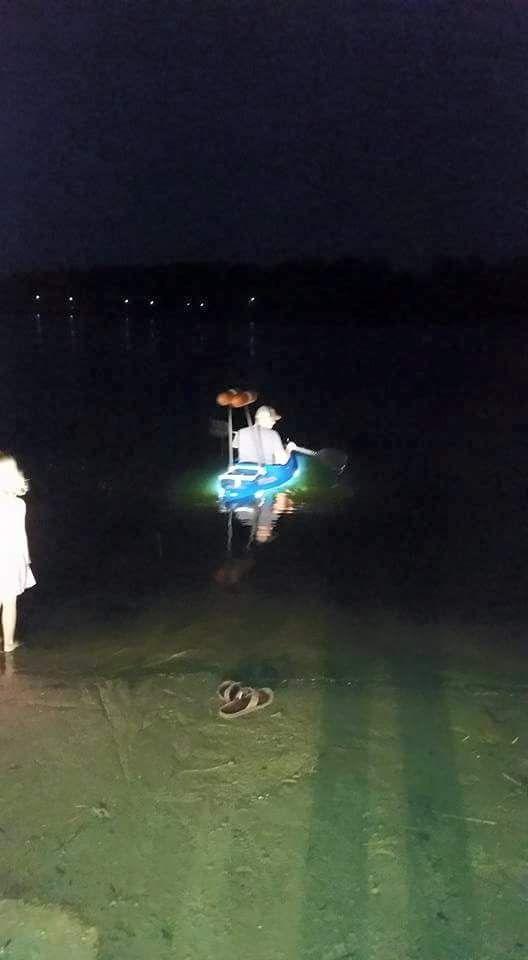LED lights on kayak