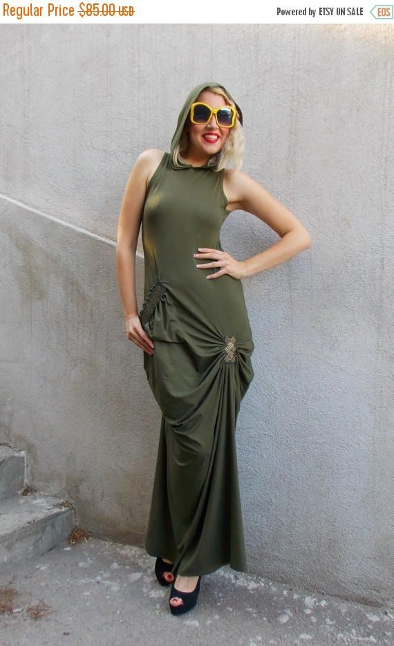 Just in: SUN SALE 25% OFF Extravagant Khaki Maxi Dress / Backless Long Dress / Asymmetrical Hooded Maxi Dress / Military Maxi Dress Tdk129 https://www.etsy.com/listing/237946341/sun-sale-25-off-extravagant-khaki-maxi?utm_campaign=crowdfire&utm_content=crowdfire&utm_medium=social&utm_source=pinterest
