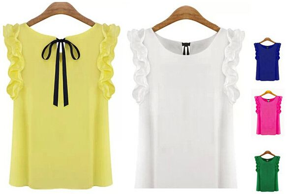 Cheap clothing application, Buy Quality blouses summer directly from China clothing hawaii Suppliers: Plus size chiffon vest women slim sleeveless fashion blouses shirts 10 candy color women clothing tank tops for women 20
