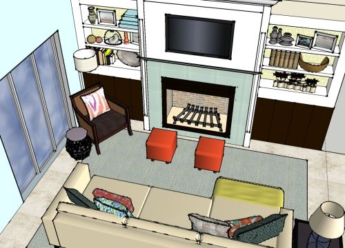 See This Colorful Fun Living Room Design We Created Don