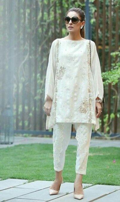 Pakistani ensemble by Zohra Alam.