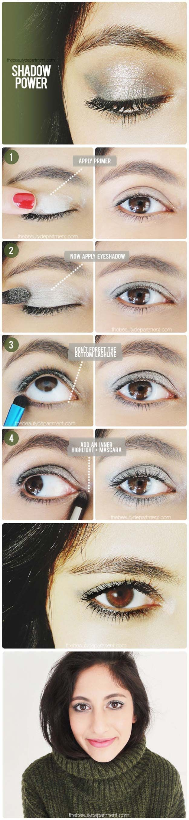 Best Eyeshadow Tutorials - Make It Brighter! - Easy Step by Step How To For Eye Shadow - Cool Makeup Tricks and Eye Makeup Tutorial With Instructions - Quick Ways to Do Smoky Eye, Natural Makeup, Looks for Day and Evening, Brown and Blue Eyes - Cool Ideas for Beginners and Teens http://diyprojectsforteens.com/best-eyeshadow-tutorials #naturaleyemakeup #eyeshadowsideas #easyeyemakeup