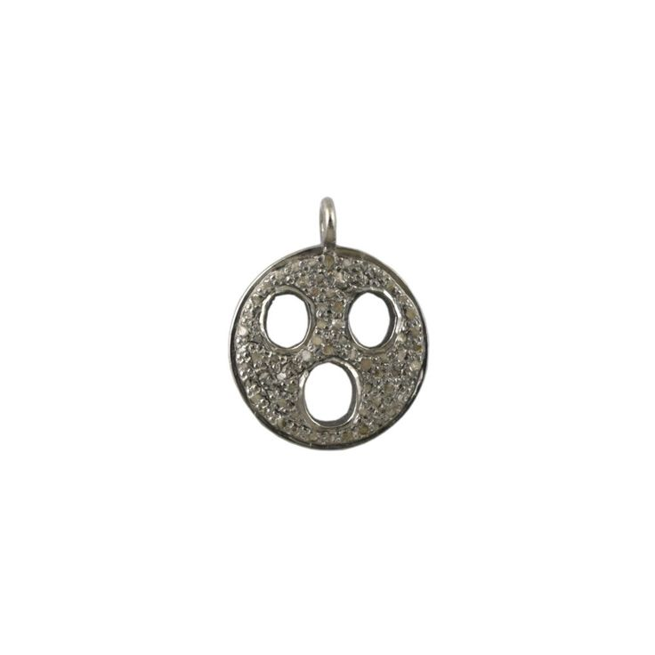 Pave Diamond Shocked Emoji Charm Pendant 925 Sterling Silver Finding Jewelry #Unbranded