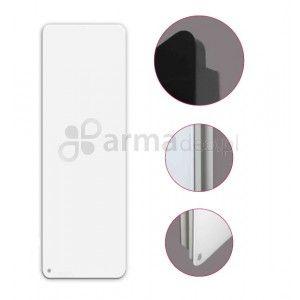INDIVI NEW - grzejnik dekoracyjny 60/200, podłączenie dolne, szkło białe, firmy Instal-Projekt.