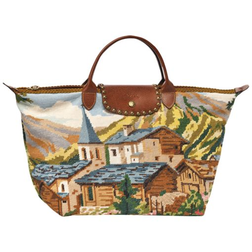 Et que diriez-vous d'un sac type Longchamp en canevas?
