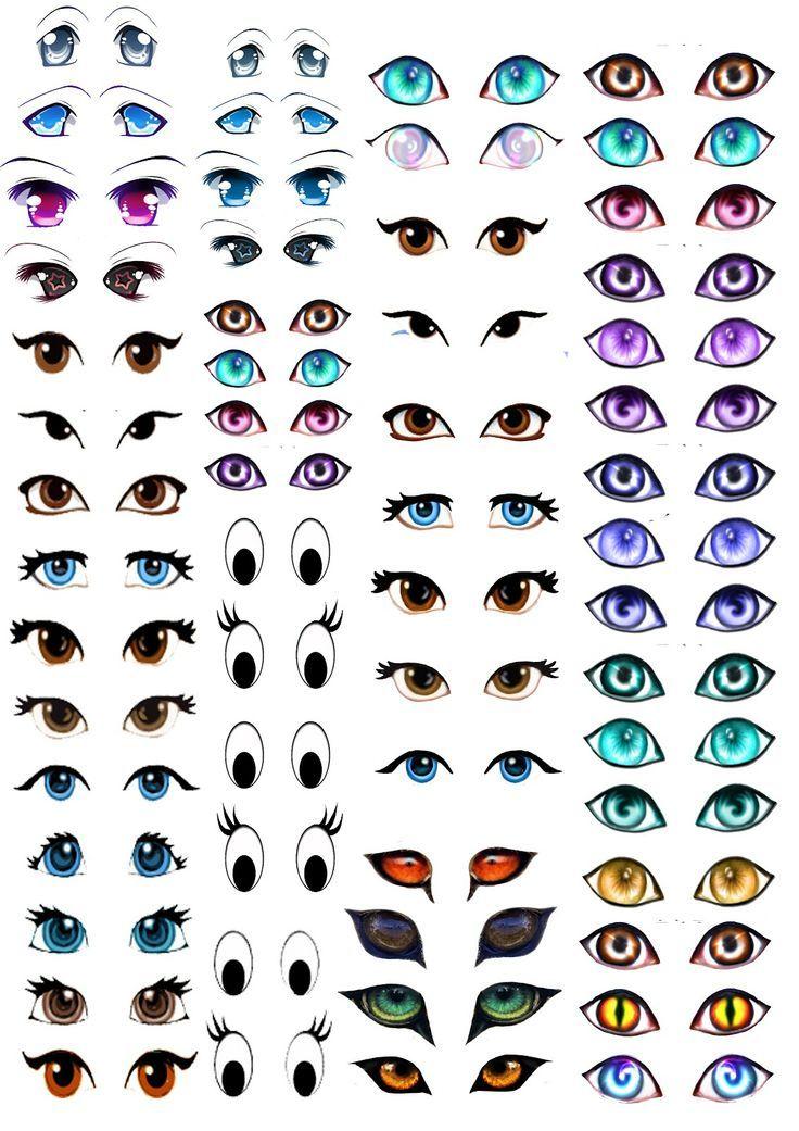 My Skills Guide: Manga Eyes for Amigurumi Practice: