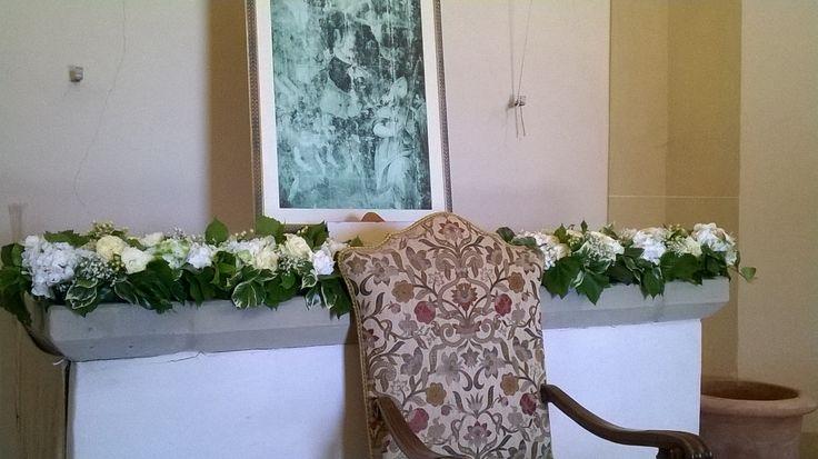 matrimonio civile: ortensie e rose. interno della Cupola di Semifonte. luglio 2014