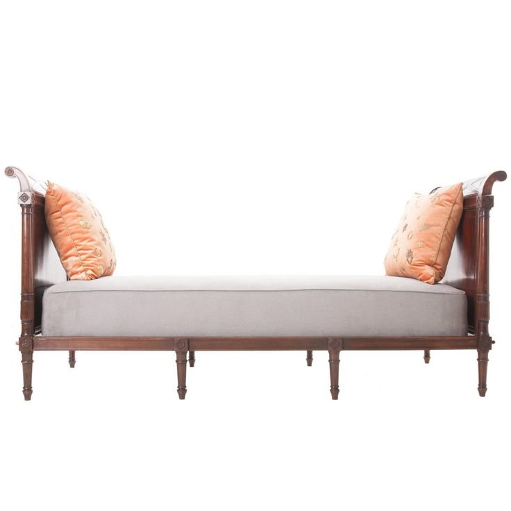Wunderbar French 19th Century Mahogany Directoire Daybed