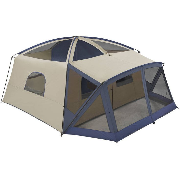 Camping Outdoor Tent 12 Person Cabin Tent Screen Porch Multiple Storage Pockets #CampingOutdoorTent12PersonCabin