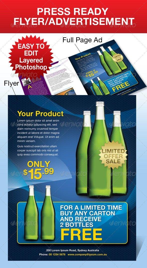 advertisement business flyer modern press ad sale press ready