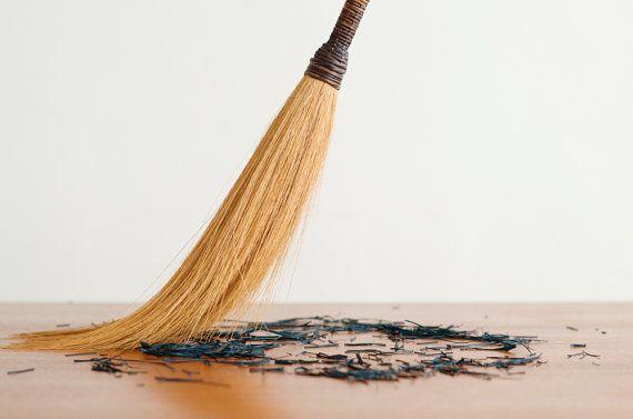 Vintage Long Rustic Whisk Broom Brush Halloween by HouseofSeance