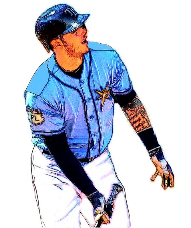 Tampa Bay Rays 2b Joey Wendle Tampa Bay Rays Cleveland Indians Mlb Baseball