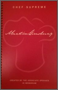chef supreme: a cookbook in honor of martin ginsburg (justice ginsburg's late husband).  very cool.  $24.95