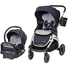 image of Maxi-Cosi® Adorra Travel System Silver Frame in Brilliant Navy