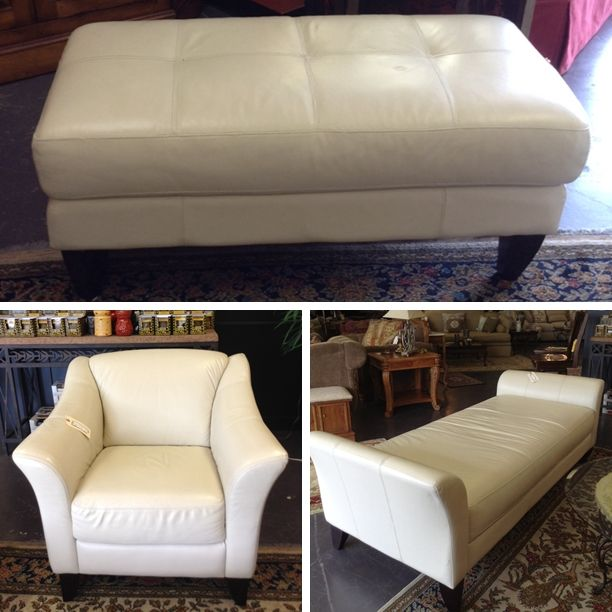 Leather Furniture  - White Leather Chair : $399.95 White Leather Ottoman : $299.95 White Leather Chaise Lounge : $729.95