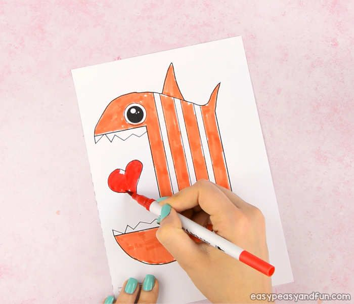 Surprise Big Mouth Fish Printable Sanat etkinlikleri ve