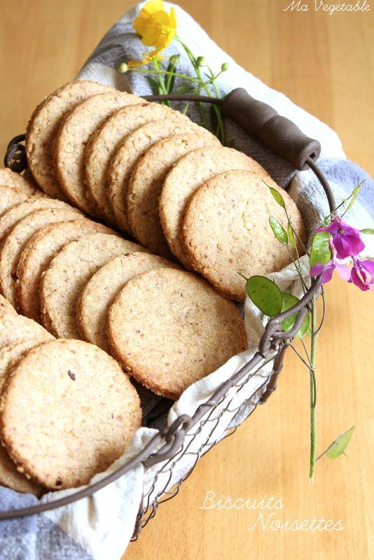 Biscuits Noisettes #recette @ Ma Végétable