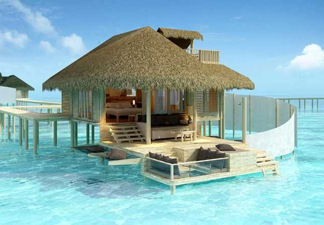 Six Senses Laamu, Olhuveli Island, Maldives. I'd even be able to handle lack of wifi and cell signal.