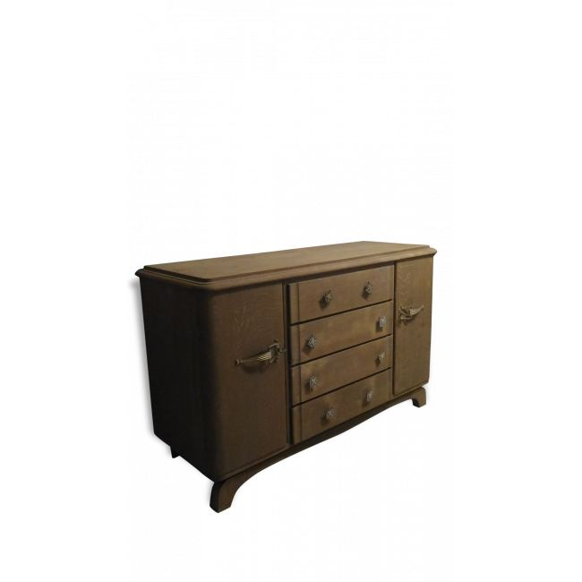 ancien bahut bois brut commode style art dco vendu par jpl atelier floyon 59 - Bahut Noir Bois