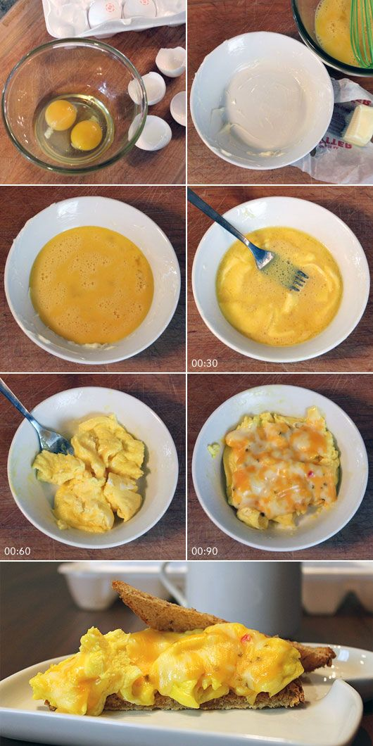 How To Make Scrambled Eggs In The Microwave Scrambled