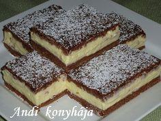 kakaós-pudingos szelet Andi konyhája - Sütemény és ételreceptek képekkel - G-Portál