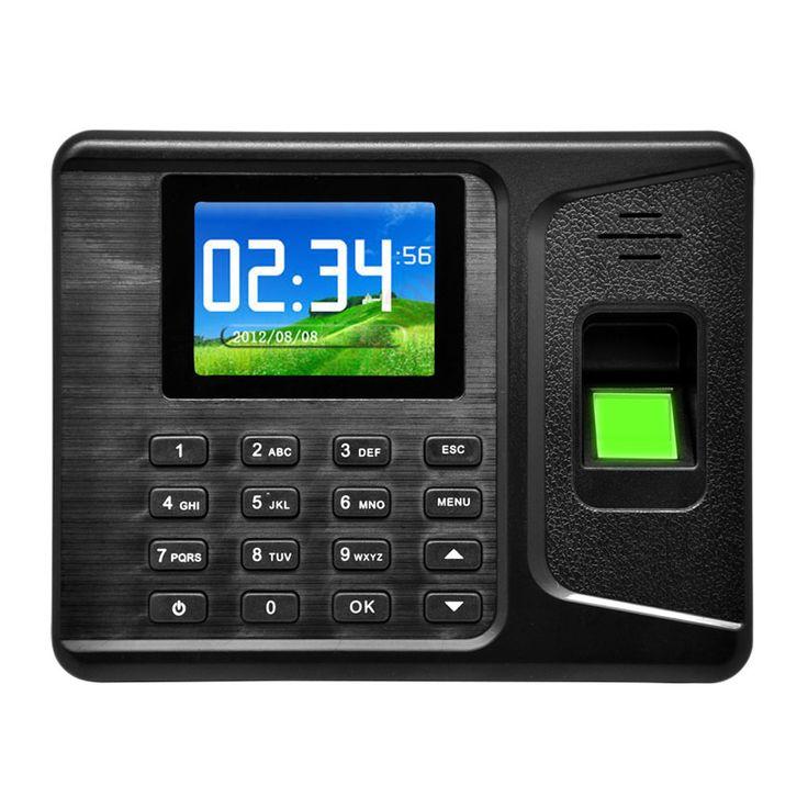 "Realand 2.8"" TFT USB LCD Biometric Fingerprint Attendance Machine DC 5V/1A Time Recorder A-E260 Finger Print"