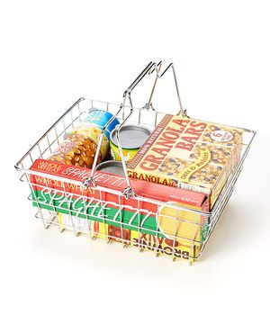 Look at this #zulilyfind! Let's Play House! Grocery Basket Set by Melissa & Doug #zulilyfinds