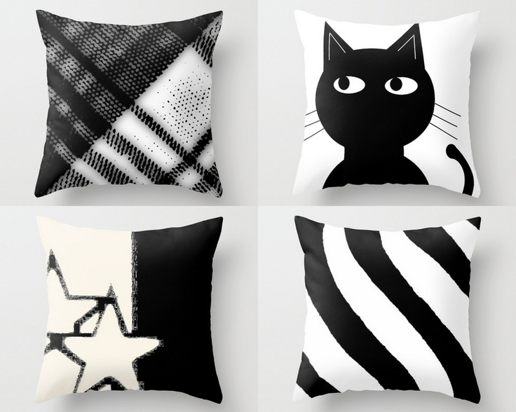 these pillows would look good tossed together on a couch black couch grey couch white couch sand colored couch perhaps a yellow couch