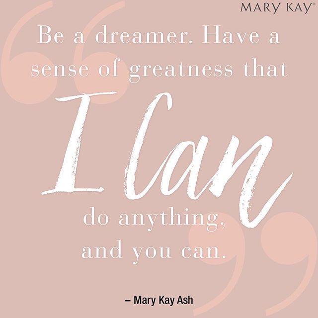 "Mary Kay Ash knew the power of saying ""I can."" If you're ready to start living the ""I Can"" life, talk to your #MaryKay Independent Beauty Consultant about starting your own business today! #ICAN"