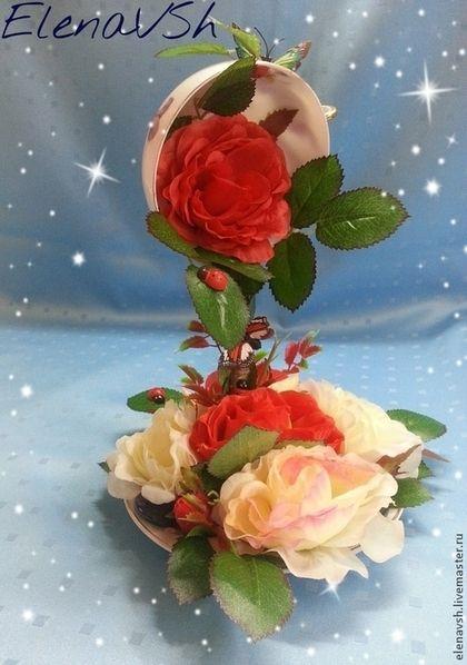 Купить или заказать Цветочная чашка Королева цветов в интернет-магазине на Ярмарке Мастеров. Цветочная чашка для улучшения Вашего настроения и украшения интерьера Вашей гостиной, спальни или кухни. Возможно изготовить с любыми другими цветами и в любой цветовой гамме на Ваш вкус (изменится время ожидания готового заказа на 1,5-2 недели из-за закупки необходимых цветов/материалов).…