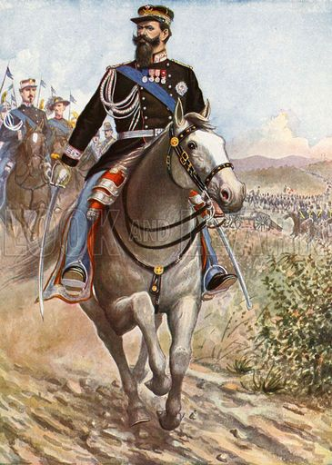 Victor-Emmanuel reviews the troops for the Crimean War