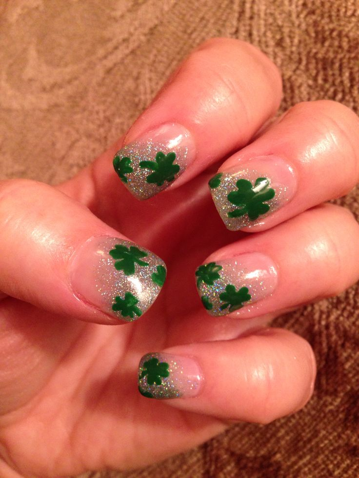 St Patty's day nails