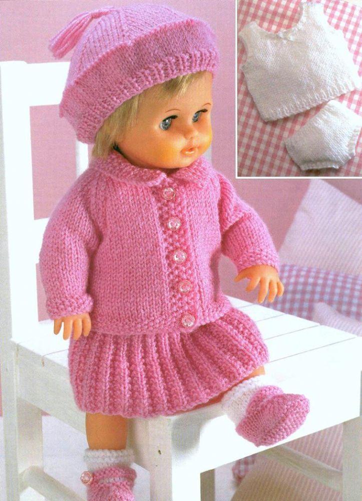 Pdf Digital Knitting Pattern Dolls Clothes Or Premature Baby Jacket