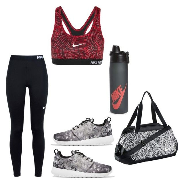 """""""Nike Workout Gear"""" by queen-aub ❤ liked on Polyvore featuring NIKE"""