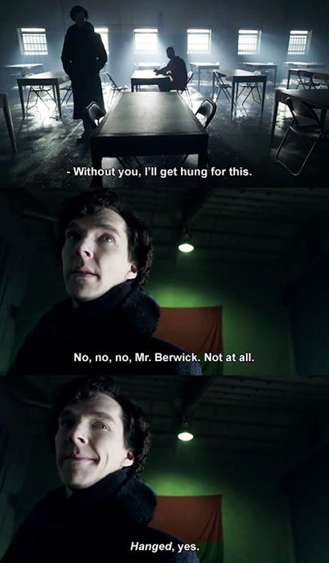 Sherlock, consulting detective for the Grammar Police... this might be my favorite line in the entire series'.