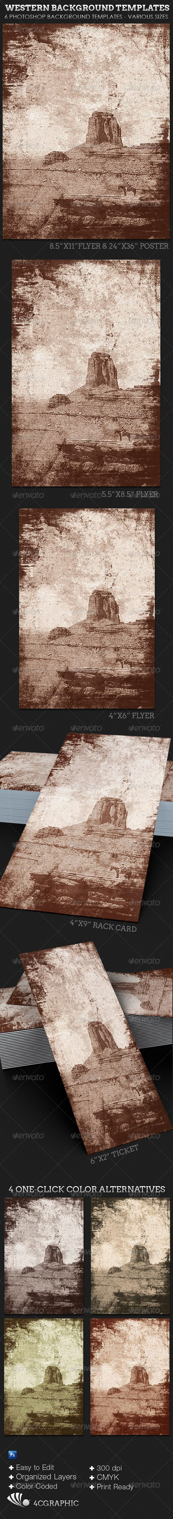 Western Background Template - Miscellaneous Photo Templates