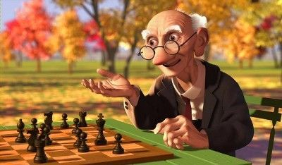 An autumn day in a deserted park, an elderly man named Geri plays a game of chess against himself. Geri plonks down the chess board and dumps the pieces out of a wooden cigar box. He puts the empty...