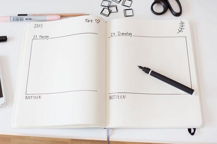 Ich liebe es, mir meinen Tagesablauf jeden Morgen erst einmal aufzuschreiben und mit über alles und jedes Notizen zu machen, damit ich nichts vergesse. Mit einem elektronischen Kalender kann ich absolut nix anfangen, irgendwelche Push Nachrichten in meinem Bildschirm mit:... #diy #einfach #joana