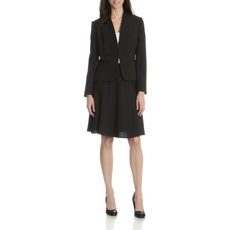 Tahari Arthur S. Levine Women's Pinstripe 2-Piece Skirt Suit | Overstock.com Shopping - The Best Deals on Skirt Suits