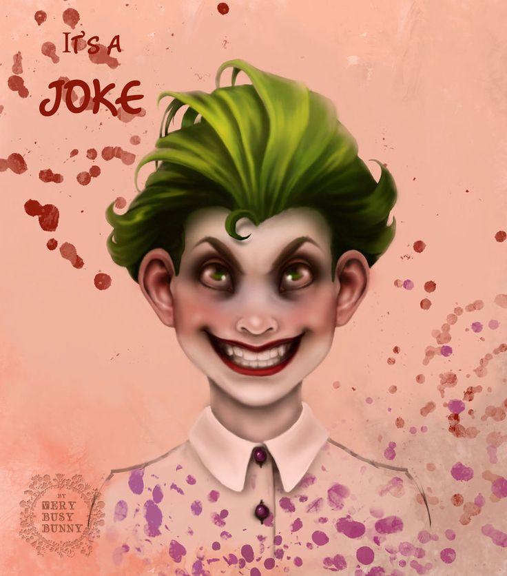 joker by very-busy-bunny  #art #little_joker #digitalart #joker #dc_comics