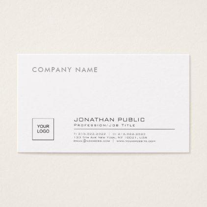 Create Your Own Stylish Company Plain With Logo Business Card - modern style idea design custom idea