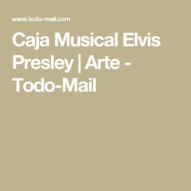 Caja Musical Elvis Presley | Arte - Todo-Mail