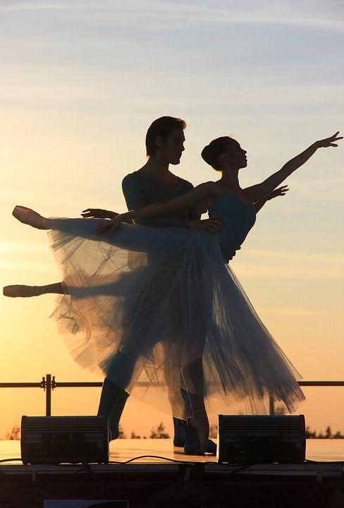 Kostenloses Bild auf Pixabay - Ballett, Abend, Sonnenuntergang